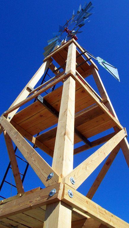How To Build A Wood Windmill Tower Rock Ridge Windmills