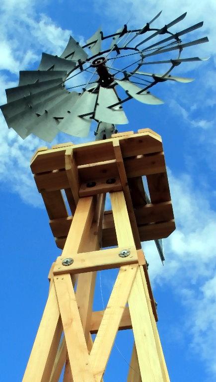 Custom Wood Windmill Towers Rock Ridge Windmills