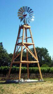 Wide Aermotor wood tower